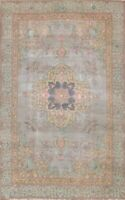Floral Semi-Antique Tebriz Traditional Area Rug Wool Oriental Hand-knotted 6'x9'