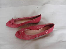 ladies faith pink pattern shoes size 6