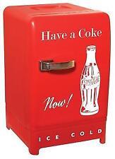 Coca Cola CCR-12 Vintage Retro Fridge Red Personal Compact Refrigerator