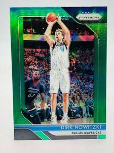 Dirk Nowitzki Mavericks 2018-19 Panini Prizm Green Prizms #2 **FREE SHIPPING**