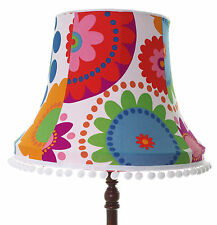 Vintage lampshade in white green red Fredrika fabric for ceiling / standard lamp