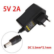 AC zu DC 5V 2A Steckernetzteil 5,5mm Hohlstecker Wechselspannung Netzteil Trafo