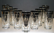 """MID-CENTURY """"KIMIKO"""" HIGHBALL GLASSES WITH GUARDIAN CREST 12oz.(SET OF 11)"""