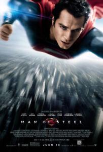MAN OF STEEL ORIGINAL MOVIE POSTER DS FINAL 27x40 HENRY CAVILL SUPERMAN