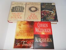 LOT OF 5 COLLEEN MCCULLOUGH Hardcovers w/ DJs Masters of Rome and more