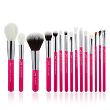 Red Face Powder Makeup Brushes Set Tapered  Eye Blender Brush Kit 15PCS Jessup