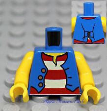 NEW Lego Girl/Boy MINIFIG TORSO w/Red White Striped Shirt & Blue Vest - Pirate