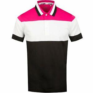 NEW Puma Nineties Pink/White/Black Golf Polo Mens Large (L)
