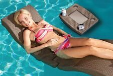 Chaise Lounge Pool Patio Adjustable Outdoor Floating Furniture Chair Lounger New