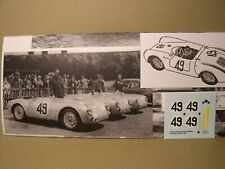 NO  SPARK  1/43  DECALS  DECALCOMANIES  PORSCHE  550  SPYDER  L M  1955  VROOM