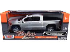 2019 GMC Sierra 1500 SLT Crew Cab Pickup Truck Silver Metallic 1/24-1/27 Diecast