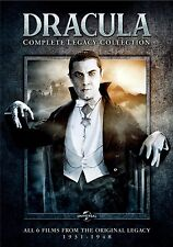 Dracula: Complete Legacy Collection [DVD Box Set, 6 Films, Region 1, 4-Disc] NEW