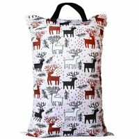 Waterproof Double Zip Large Wet Bag Reindeer 40x70cm