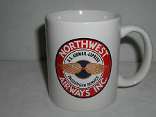 NORTHWEST AIRLINES VINTAGE 1934 NWA LOGO COFFEE CUP MUG DELTA AIRPLANE PILOT FA
