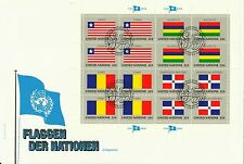 Nations Unies United Nations Drapeaux Liberia Chad Maurice Flags Flagge 1985 Fdc