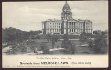 EARLY DENVER CO MELROSE LAWN BUILDING SITES OLD ADV POSTCARD + THE CAPITOL PC416