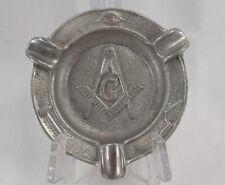 Vintage Masonic Freemason Cigar Ashtray Tarrant Lodge No. 942  1962 - 1963