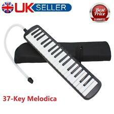 More details for glarry 37-key melodica with mouthpiece & hose & bag musical instruments uk