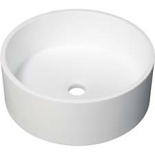 D'Lucci STONE ROUND COUNTERTOP BASIN 400x400x150mm Pure Solid Surface Acrylic