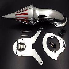 Spike Air Cleaner Kits Filter For Honda Aero 750 Vt750 Intake 1986-2012 Chromed