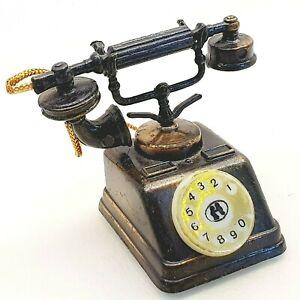 Vintage pencil sharpener die-cast metal CLASSIC TELEPHONE