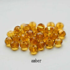 Spacer Beads For Earring Bracelet Diy 100Pcs4Mm Amber Round Crystal Glass
