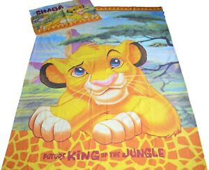Disney The Lion King Simba Single Bed Quilt Cover Set Rare