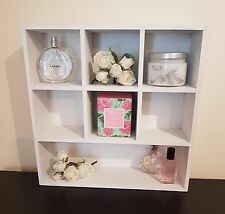 SHABBY CHIC SHELF UNIT DISPLAY CABINET PIGEON HOLE STORAGE DECOR HOME RACK WHITE