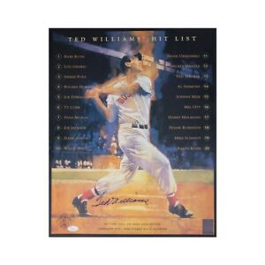 Ted Williams Autographed Boston Red Sox 16x20 Photo - JSA LOA (A)