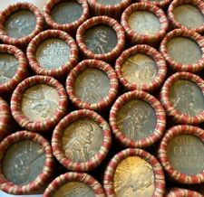 (50) 1943 Steel Cent Penny Rolls US Coins P D S Wheat Pennies WWII Cents Lincoln