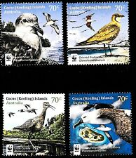 Cocos Island 2015 Visiting Birds Complete Set of Stamps P Used off paper