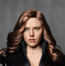Zctoys 1/6 Scarlett Johansson Female Head Sculpt Long Curls Fit 12'' HT Body Toy