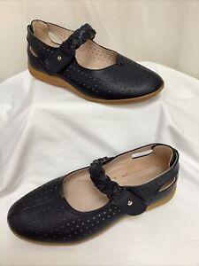 DAMART Navy Air Cushion Sole Mary Jane Style Shoes UK6 EU39 EEE VGC Boxed