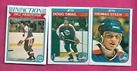 1982-83 OPC JETS STEEN RC + HAWERCHUK ACTION RC + SMAIL RC CARD  (INV# C4216)