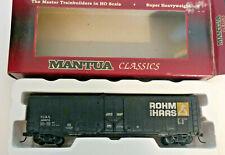 HO scale Mantua Classics 50' Plug door Rohm Hass boxcar nirx 42875 Weathered
