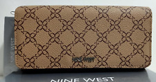 Nine West Bi -Fold Clutch Leather Brown Wallet New With Tag