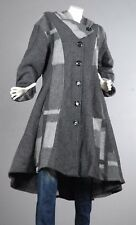 105 WOLLMANTEL A-LINIE MANTEL PATCHWORK LAGENLOOK JACKE WOLLJACKE COAT 52 54 56