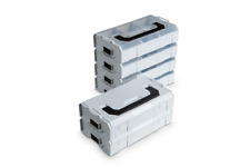 BOSCH Sortimo L-Boxx MINI 6 Stück  im Set | grau | Sortierkasten | stapelbar