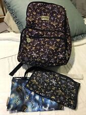 Jujube Backpack Flying Keys Harry Potter Navy! Changing Pad + Extras- See Pics