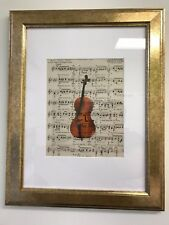 CELLO PICTURE INSTRUMENT MUSIC FRAMED (Frame size 15X19)