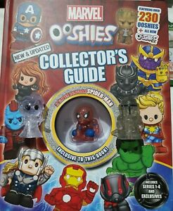 Rare Ooshies glitter Elsa & Mandalorian w/ bonus Spiderman Collector's Guide.