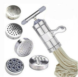 Stainless Steel Manual Noodle & Pasta Maker Press Spaghetti Kitchen Tool w/Mould