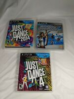 Just Dance 4,Just Dance 2014,Sports Champions Games for Playstation 3 Move
