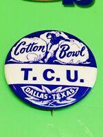 1950's/60's TCU Cotton Bowl Pin Pinback