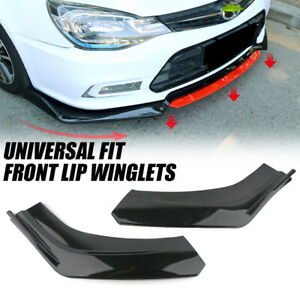 Universal Front Carbon Fiber Color Bumper Lip Diffuser Splitter Winglets Canards