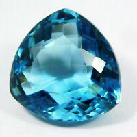 IGI CERTIFIED Always Natural Amazing Swiss Blue Aquamarine Loose Gemstone 41 Ct