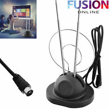 Indoor Digital Antenna Tv Aerial Hd Freeview Television Dvb-T Signal Reception