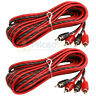 2 Pack DS18 17 Ft RCA Cable 2 Channel Interconnect Shielded Audio Cables Amp