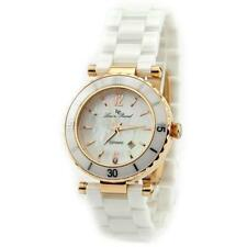 Gold Plated Case Women's Adult Ceramic Band Wristwatches