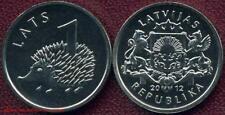 Letonia Latvia lettonie lettonia 1 lats 2012 erizos Hedgehog banco recién hace euro